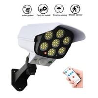 remote solar motion sensor fake monitor led wall mount lamps security move sensor bulbs ip66 dummy camera body induction lamp wa