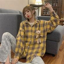 Bear Shirt Female Design Non-mainstream Outdoor All-Matching Long Sleeve Early Autumn Very Fairy Blo