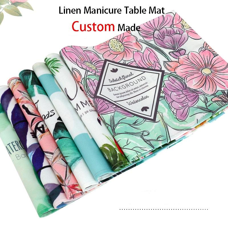 Freies Individuelles LOGO Design Billig Nagel Tisch Wasserdicht Nail art Hand Kissen Pad Arm Rest Kissen Tisch Matte Tragbare Maniküre werkzeug