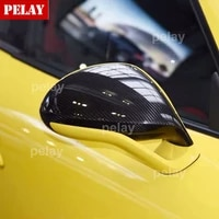 carbon fiber mirror cover for porsche cayenne 958 911 macan 718 boxster panamera carbon fiber side caps replace style