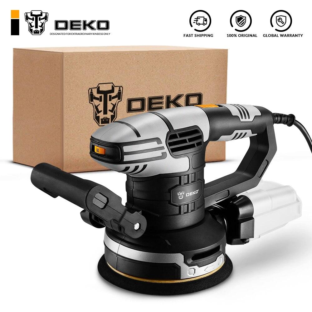 DEKO DKSD125J1/DKSD150J2 450W Random Orbit Sander with sandpaper and Hybrid dust canister