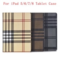 leather case cover flip fold tablet cover mig stripe protective for ipad 5 6 7 8 back cover case
