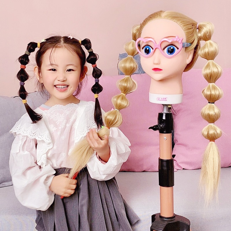 Qoxi-رؤوس تدريب احترافية للرسوم المتحركة ، دمية تصفيف الشعر للشعر الطويل والسميك ، للبيع