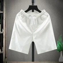 Luxury brand Summer Shorts men's casual Capris slim fit beach pants thin trend underpants