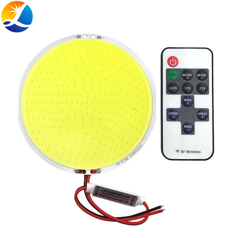 12V Dimmable COB LED lámpara Panel luces DC12V 50W LED Bombilla con atenuador azul cálido blanco frío iluminación Color 108mm de diámetro