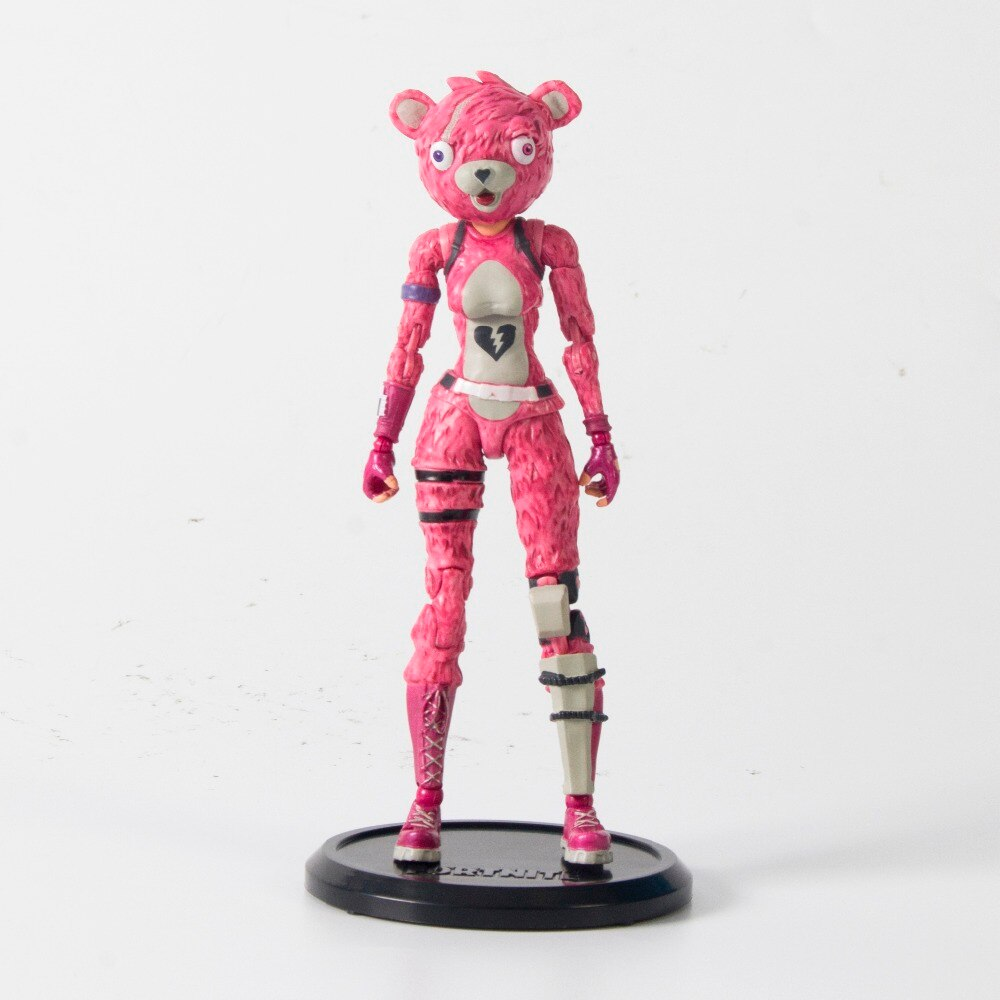 "19cm New Hot Fortress Night Battle Royale Trooper Cuddle Team Leader Pink Premium 7"" Action Figure"