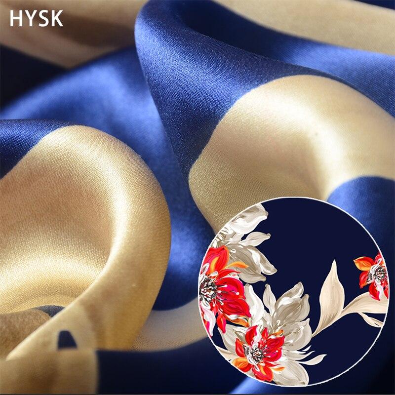 Hysk 100% puro mulbery seda cetim tecido roxo svevo flor impressão duquesa seda charmeuse lote macio africano para as mulheres vestido c2427