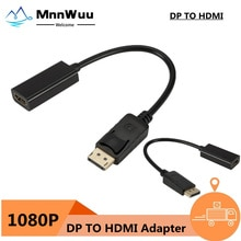 DP to HDMI-compatible Cable Adapter Male To Female For HP/DELL Laptop PC Display Port to 1080P HDMI-
