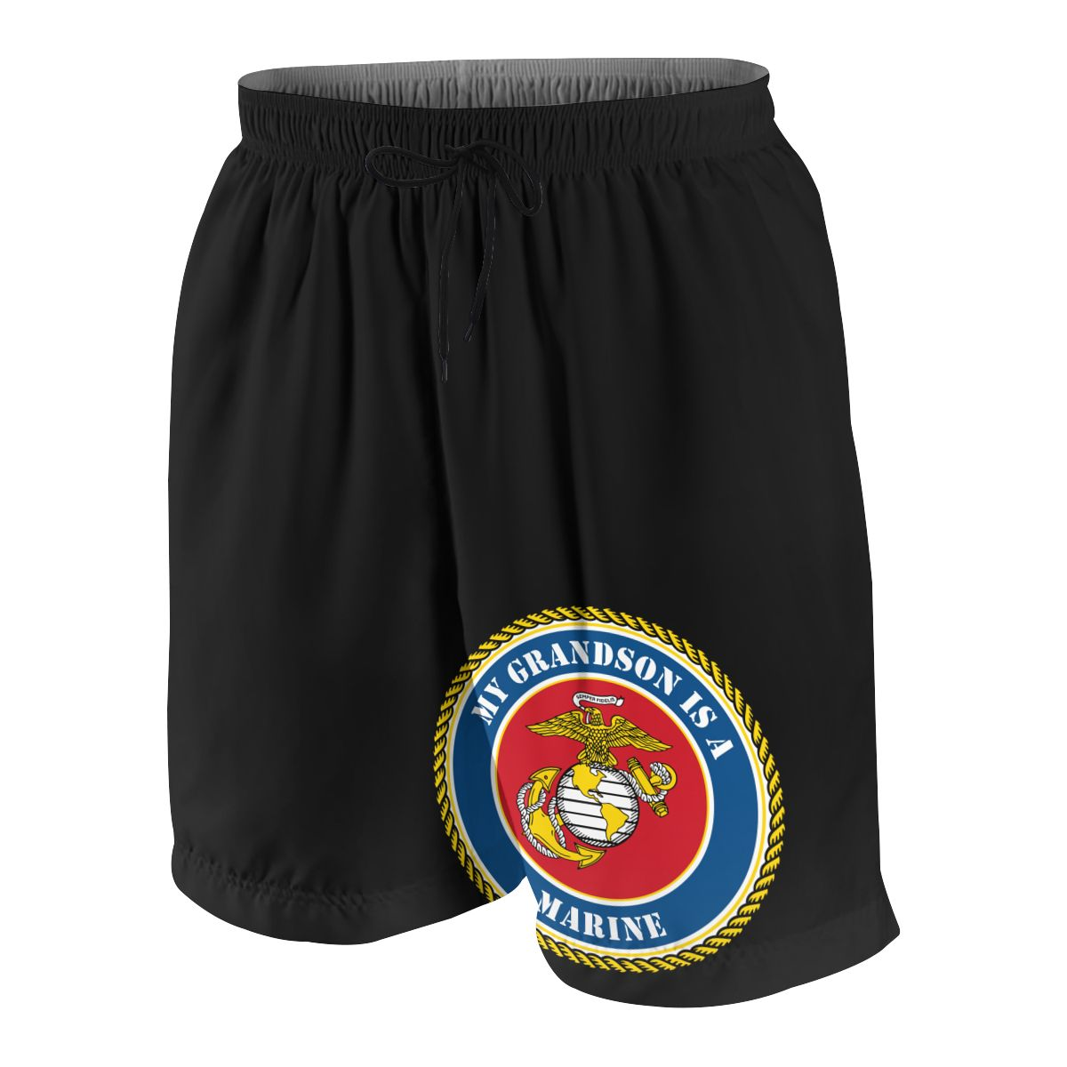 My Grandson Is A Marine Teenagers Comfortable Fashion Fitness Joggers Quick-dry Cool Short Sweatpants