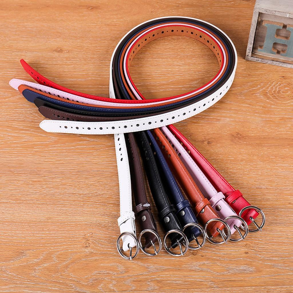 7 Colors Female Thin Belt Women 2019 High Quality Strap Women Leather Trouser Children's Adjustable