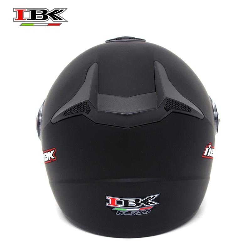 IBK Motorbike Protective Helmet Electric Bicycle Scooter Casco Unisex 3/4 Double Visor Summer matte Helmet IBK-720 enlarge