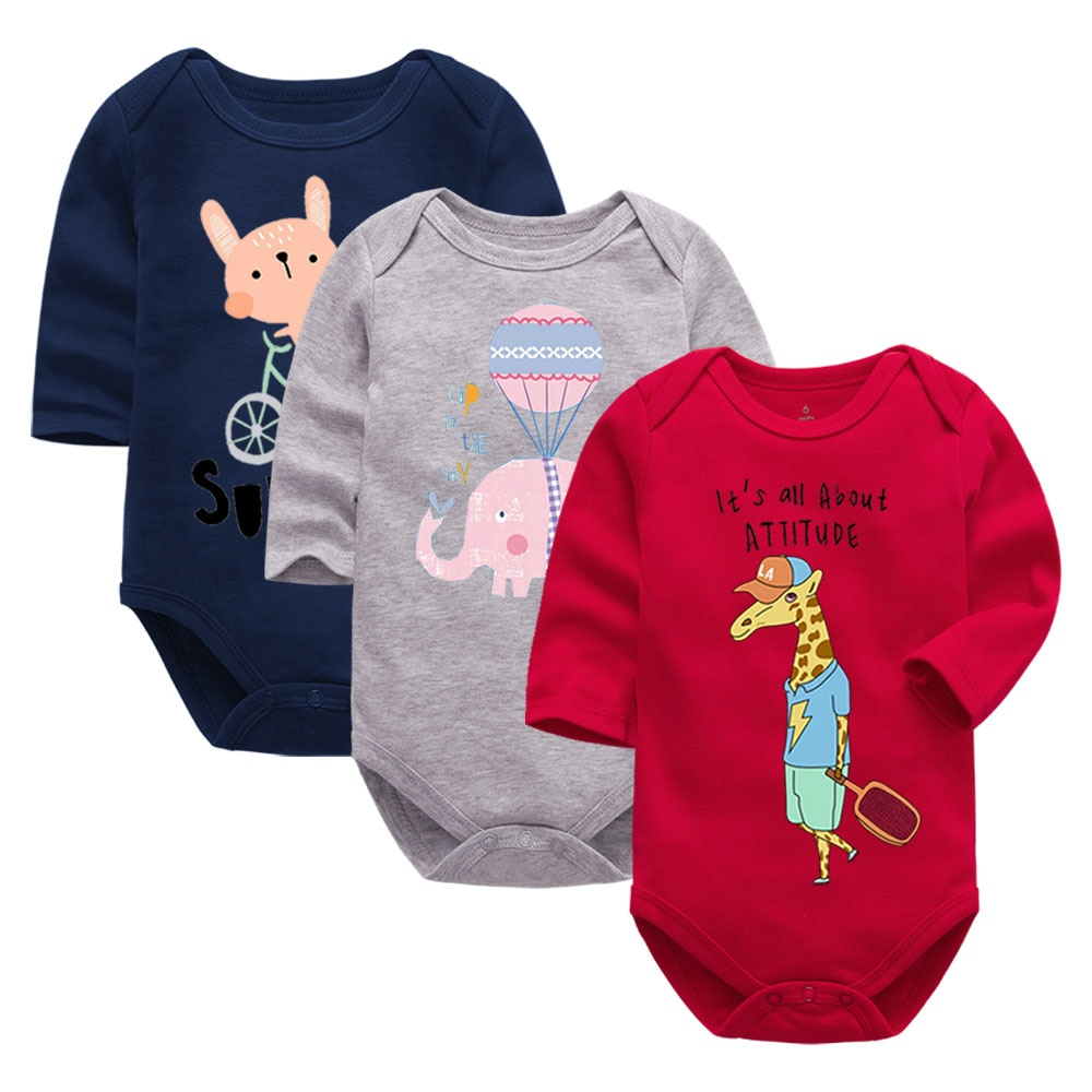 AliExpress - Baby Bodysuit Fashion 1pieces/lot Newborn Body Baby long Sleeve Overalls Infant Boy Girl Jumpsuit kid clothes