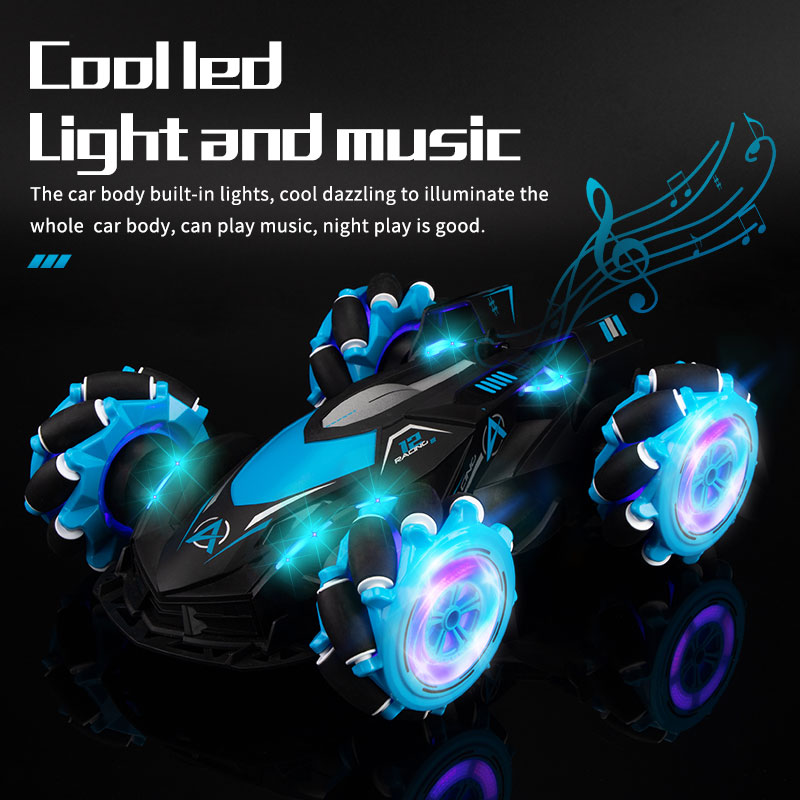 LBLA B2 1:14 2.4G 4WD Remote Control RC Stunt Car Cross Spray Deformation Twist Gesture Radio Sensin