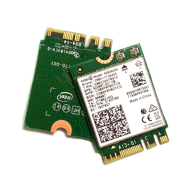 ThinkPad E480 E570 E580 T480 T480s T570 T580 disponible 9260AC de tarjeta de red inalámbrica