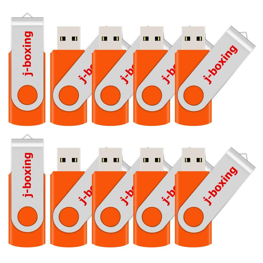 J-boxing USB Flash Drive Small Capacity 128MB 64MB Pendrives Metal Swivel USB 2.0 512MB 256MB Memory Stick for PC Macbook Orange