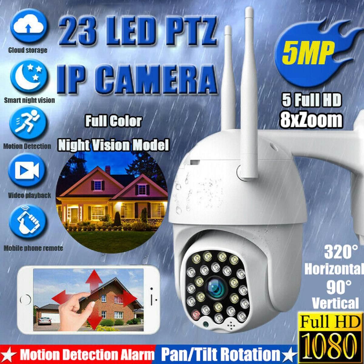 1080P PTZ IP Camera Outdoor Speed Dome Wireless Wifi Security Camera 8X Zoom 5MP IR Baby Pet Monitor CCTV Surveillance Webcam HD