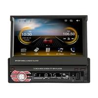 1din car stereo radio gps 7 inch hd retractable screen mp5 player bluetooth autoradio mirror link radios tape recorder