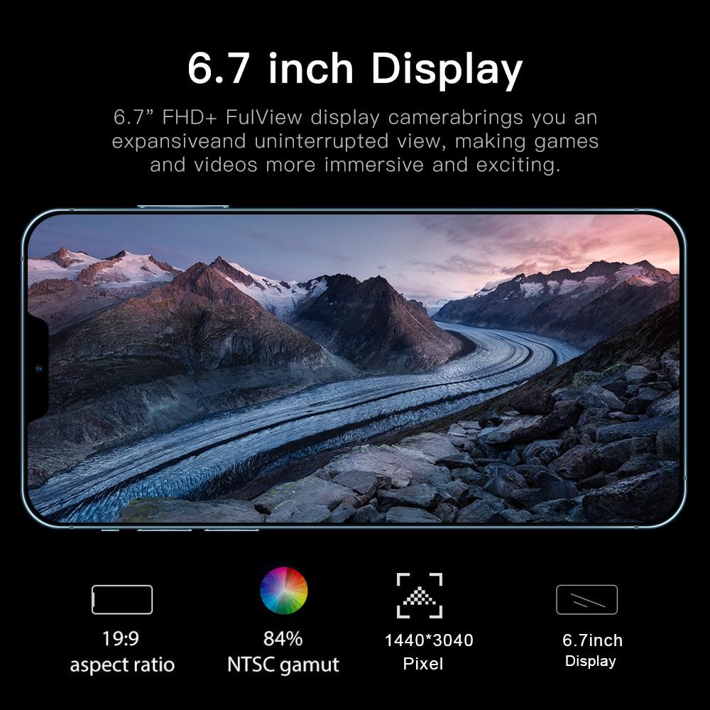 6.7Inch I12 Pro Max Snapdragon 865 Rear Triple Camera 48MP Selfie Smartphone 12GB+512GB 5000mAh Android 10.0 Deca Core 4G 5G LTE