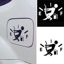 Funny Car Sticker Pull Fuel Tank Pointer Full Hellaflush Reflective Vinyl Car Sticker Decal Wholesal