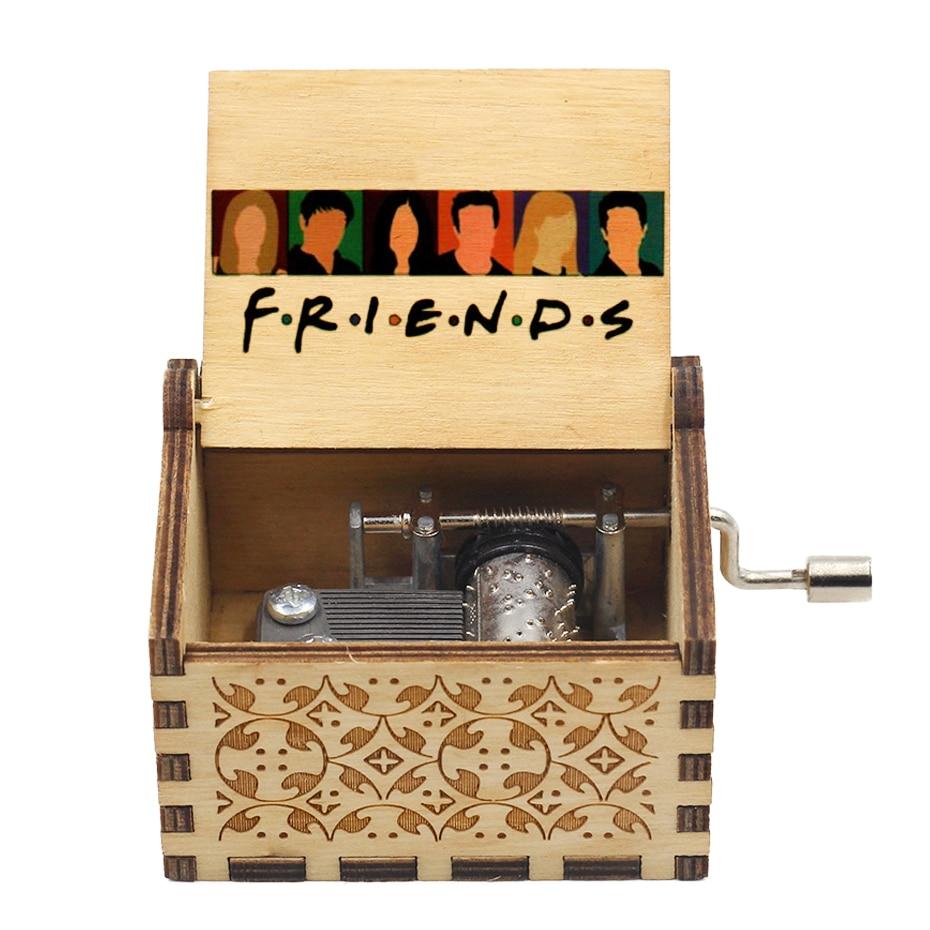Wood carving hand-cranked music box Wukong Vegeta wood carving handmade retro gift Tapion