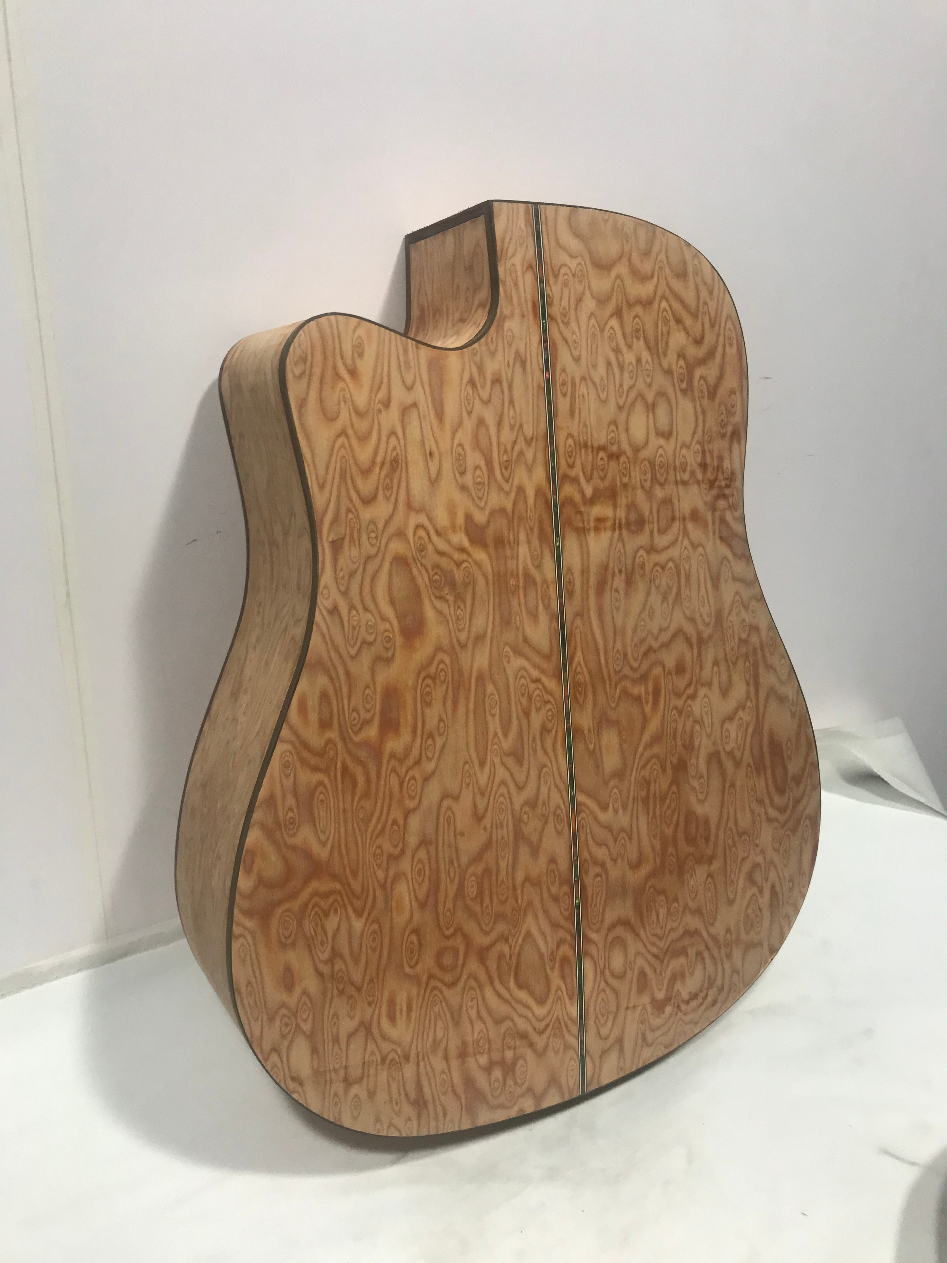 free fhipping solid wood Semi-finished D Shape acoustic guitar Unfinished handmade Guitarra custom 41 inch Veneer Guitar enlarge