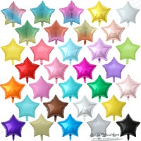 10 шт., 18 дюймов, градиентные/Макарон/однотонные шары со звездами, свадьба, день рождения, вечеринка украшения детский душ, товары из фольги с ...