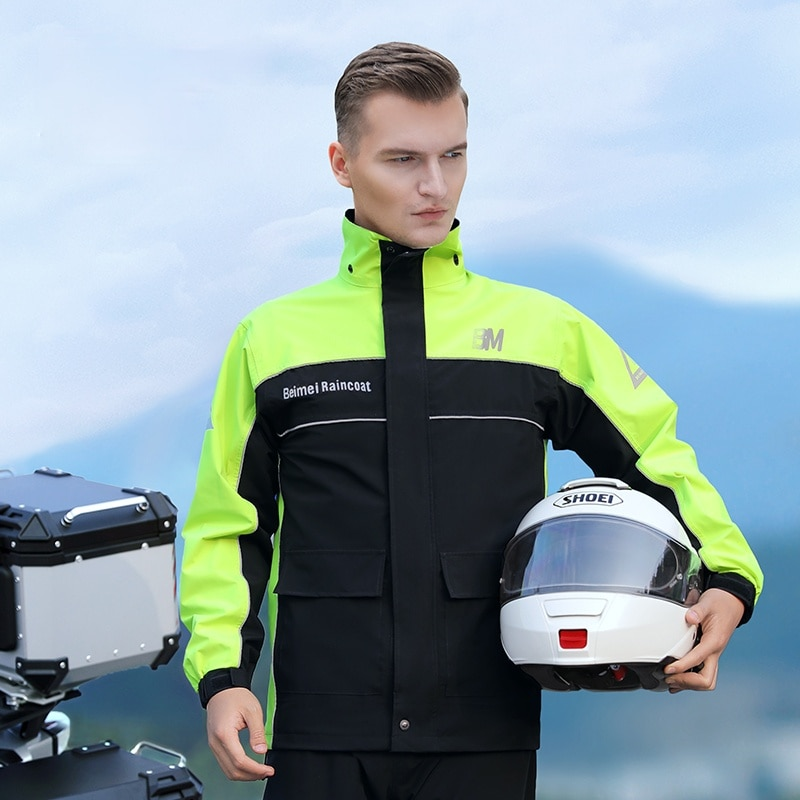 Waterproof Suit Raincoat Aesthetic High Quality Green Hiking Raincoat for Men Motorcycle Impermeables Household Items EI50RC