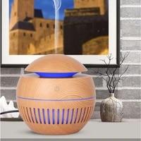 USB Mini Diffuseur Darome Humidificateur Dair Dhuile Essentielle Daromatherapy De Grain En Bois avec LUMIERE LED Pour la Chambre a Coucher a la maison