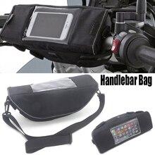 Para bmw r1200rs r1200rt r1100gs r1150gs r1150r r80 r80rt motocicleta guiador saco sela grande tela para o telefone/gps