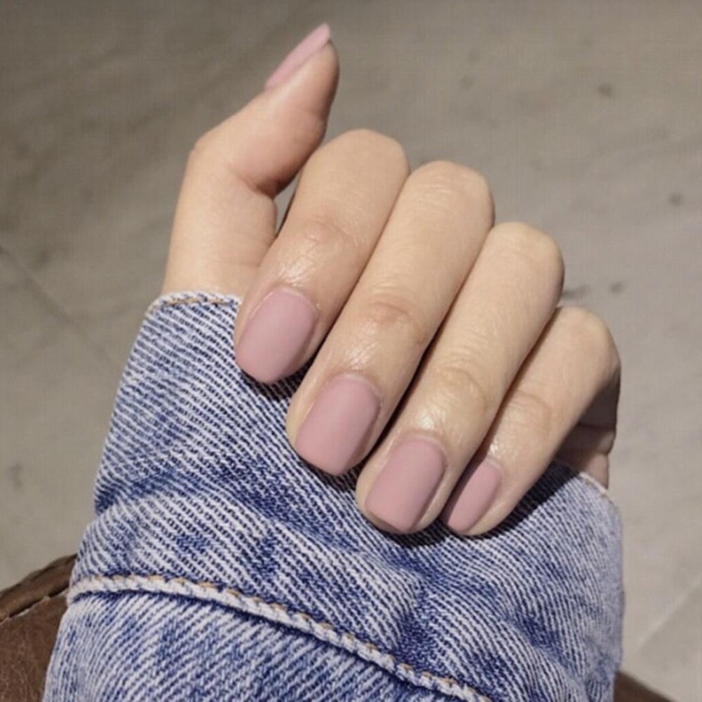 24 Uds. Mate molienda cuadrado uñas falsas nupcial punta para manicura