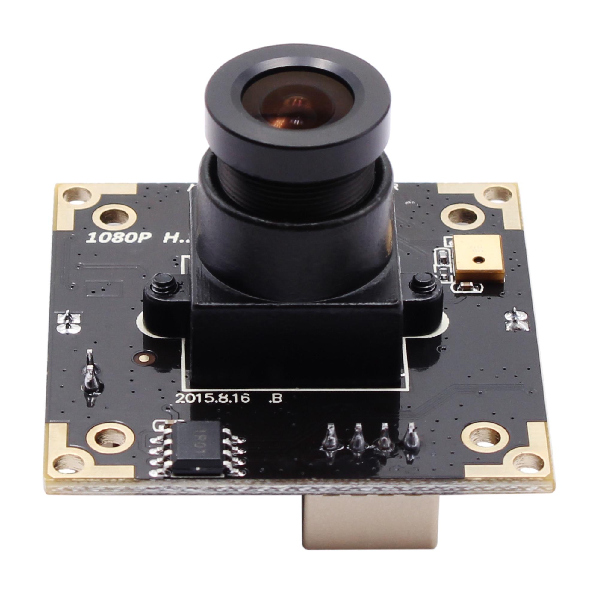 Módulo da câmera da webcam de usb de uvc otg com a lente m12 de 25mm escala dinâmica completa de hd da câmera de 3mp wdr usb até to100 db