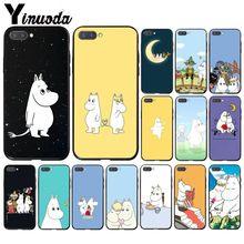 Yinuoda dessin animé mignon moomin hippopotame étui de téléphone pour Huawei Honor 8A 8X 9 10 20 Lite 7A 5A 7C 10i 9X pro Play 8C