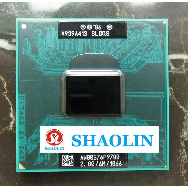 P9700 SLGQS 2.8GHz ثنائي النواة المزدوج الموضوع معالج وحدة المعالجة المركزية 6 متر 25 واط المقبس P الأصلي شاولين النسخة الرسمية الأصلي شحن مجاني