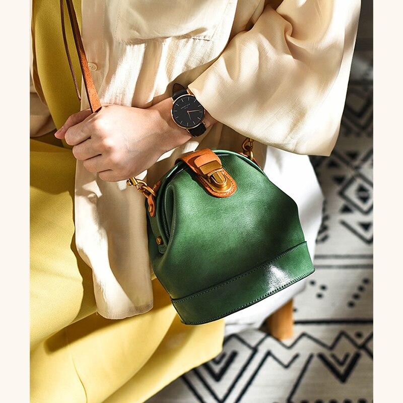 Bag for women Genuine Leather Crossbody Bag Handmade bag vintage Handbag 2021 Designer Ladies classic Shoulder Bag  - buy with discount