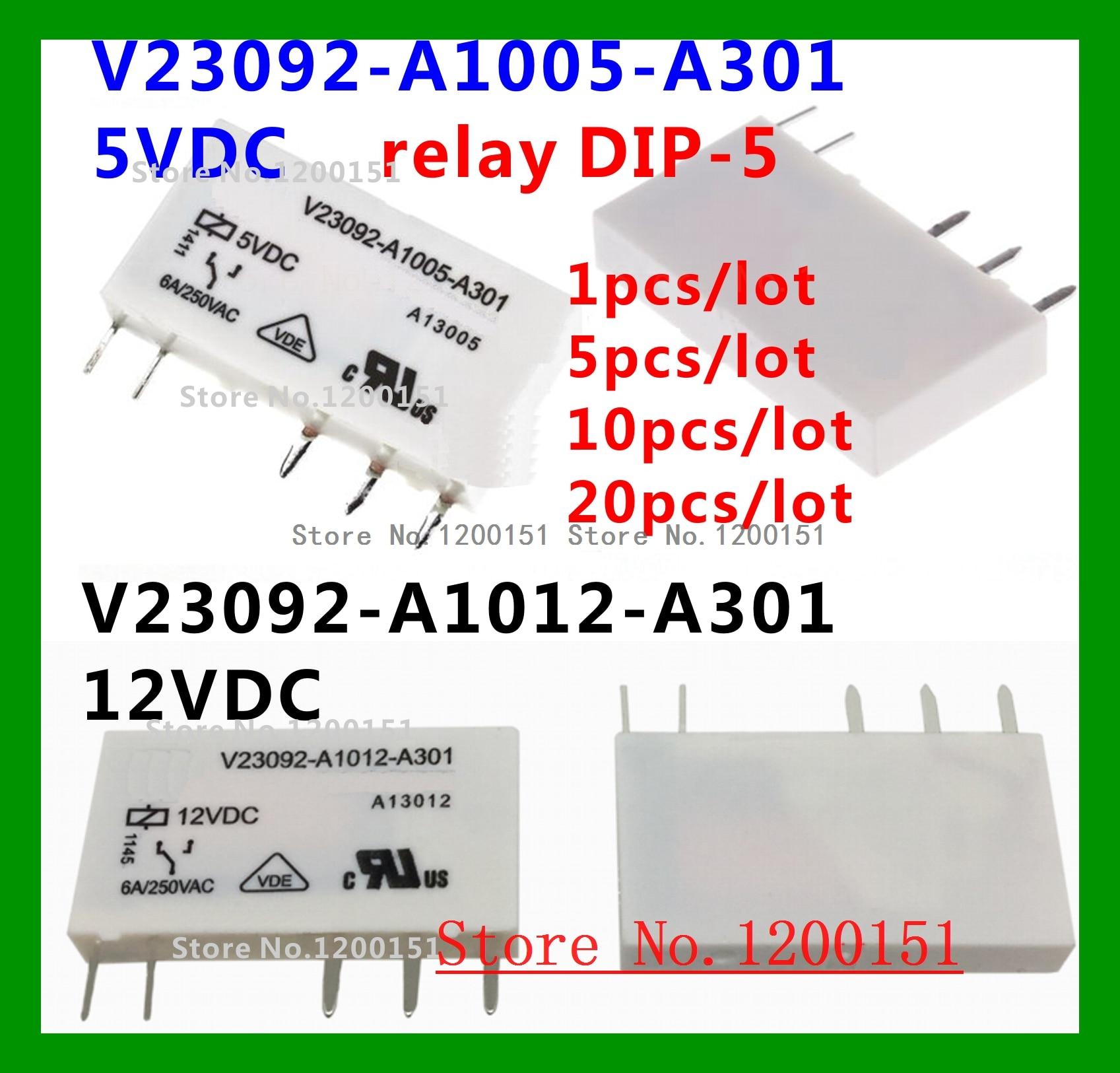 V23092-A1005-A301 5VDC V23092-A1012-A301 12VDC 릴레이 DIP-5