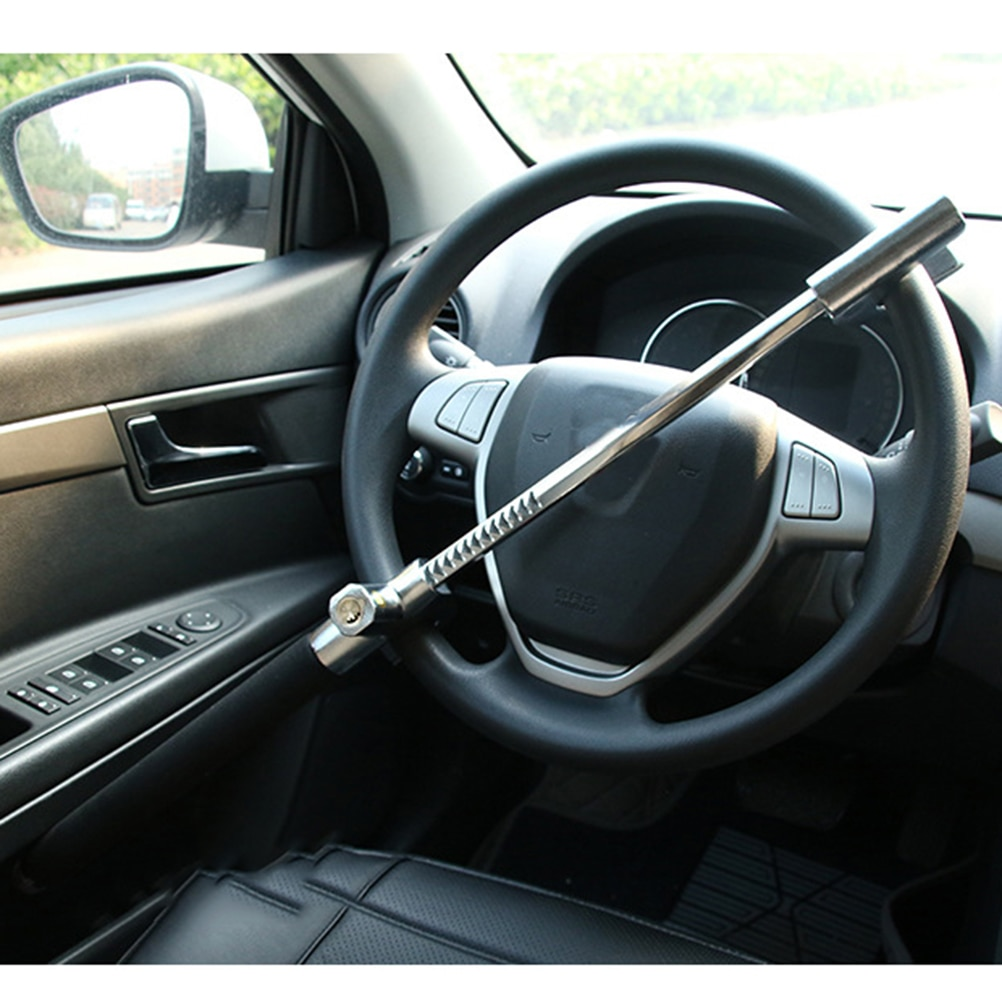 قفل عجلة القيادة للسيارة ، قفل على شكل حرف U ، أمان عالي ، قابل للتعديل ، مضاد للسرقة ، لسيارة SUV