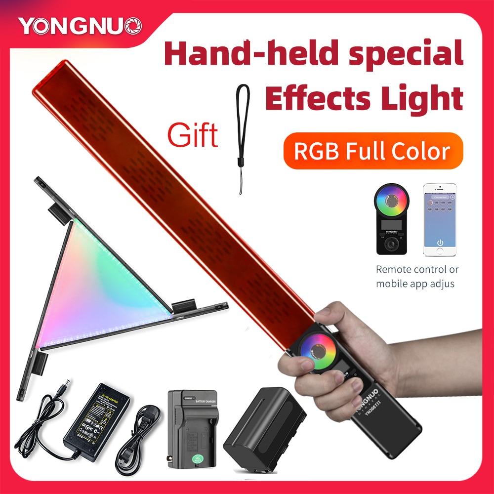 Yongnuo-عصا ضوء الفيديو YN360 III, LED محمولة بألوان ثلجية حمراء وخضراء وزرقاء، 3200K-5500K، يمكن التحكم بها باللمس بواسطة تطبيق الهاتف