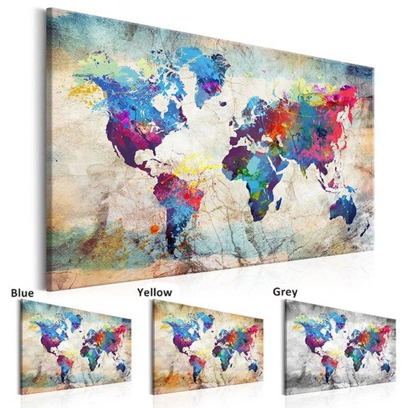 """5d diy pintura diamante artesanato ponto cruz """"mapa do mundo"""" completo quadrado diamante bordado venda de fotos decoração para casa"""