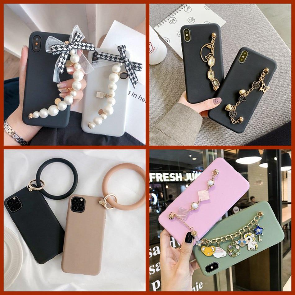 For Samsung A50 A51 A71 A30 A80 A60 Galaxy A20S A10E M20 M30 A9 2018 Luxury Gem Wrist Strap Case Diamond Bracelet Soft Cover