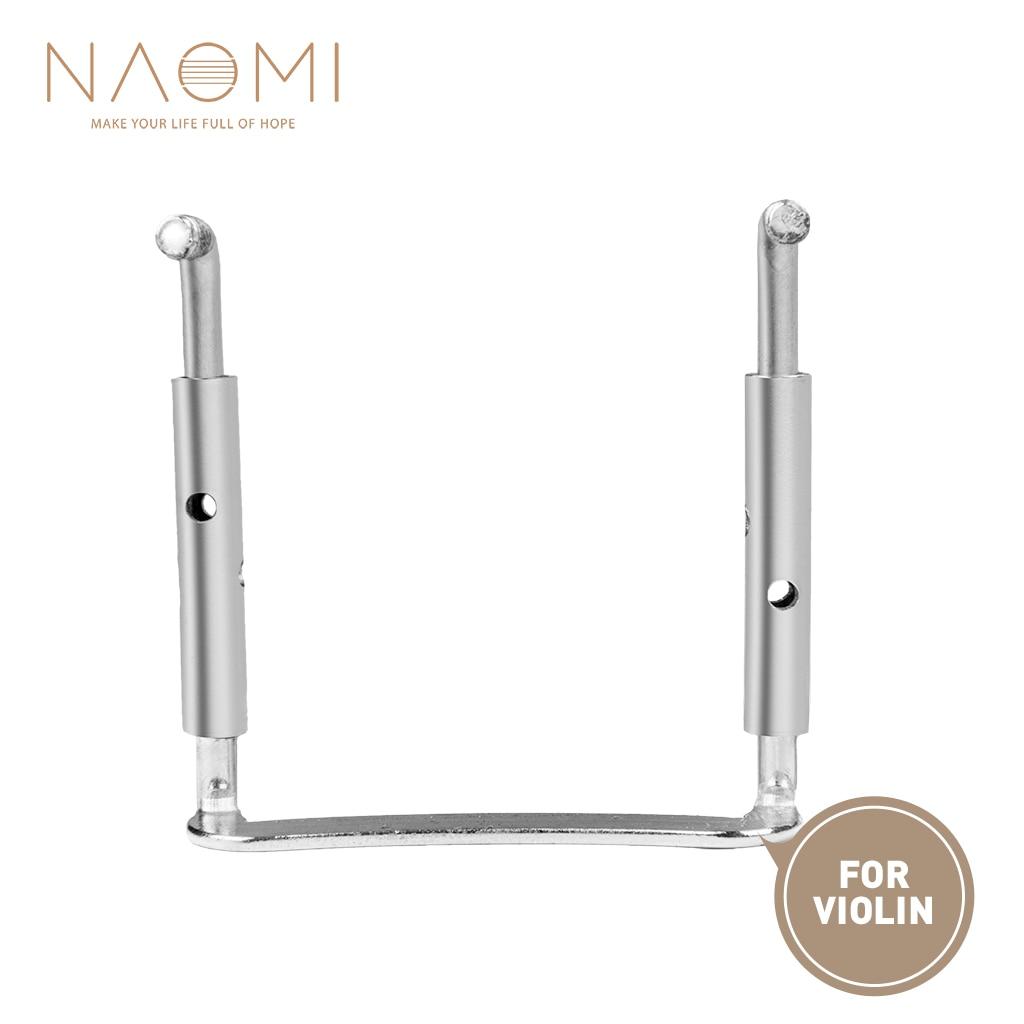 Подбородок для скрипки NAOMI, винтовой зажим, посеребренный, твердый и прочный, подбородок, запасные части для скрипки 3/4 4/4