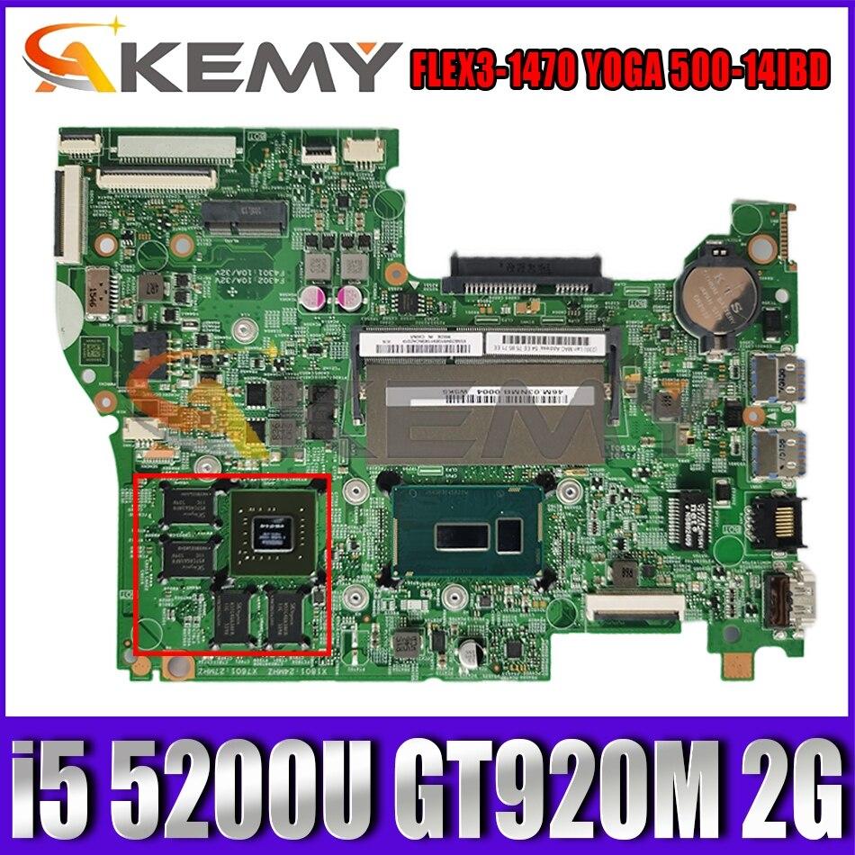 448.03N03.001M لينوفو FLEX3-1470 اليوغا 500-14IBD دفتر اللوحة وحدة المعالجة المركزية i5 5200U GT920M 2G DDR3 100% اختبار العمل