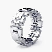 milangirl classic men ring fashion ring with chain accessories jewelry for male party