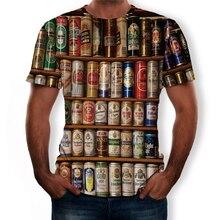 New drink 3D printed tshirt Mens womens beer Hip Hop short Sleeve cola chips hamburger cafe rock hiphop aerated water big size