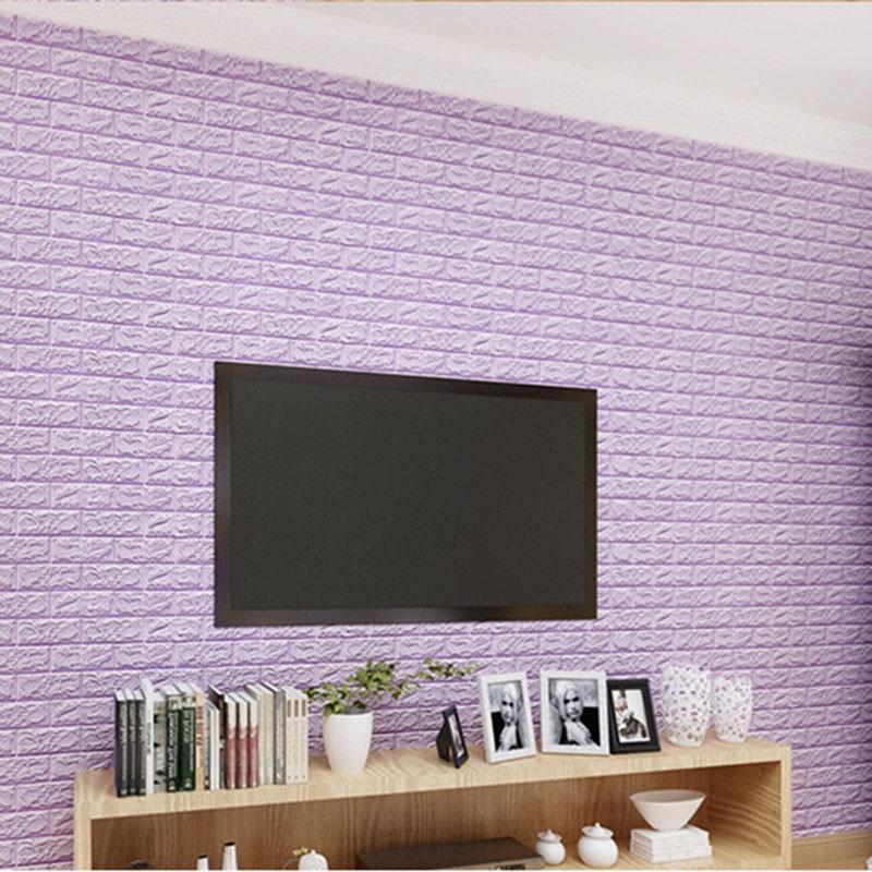 60*60cm DIY autoadhesivo PE espuma 3D ladrillo pared pegatina sala de estar niño anti-colisión impermeable soft wall sticke