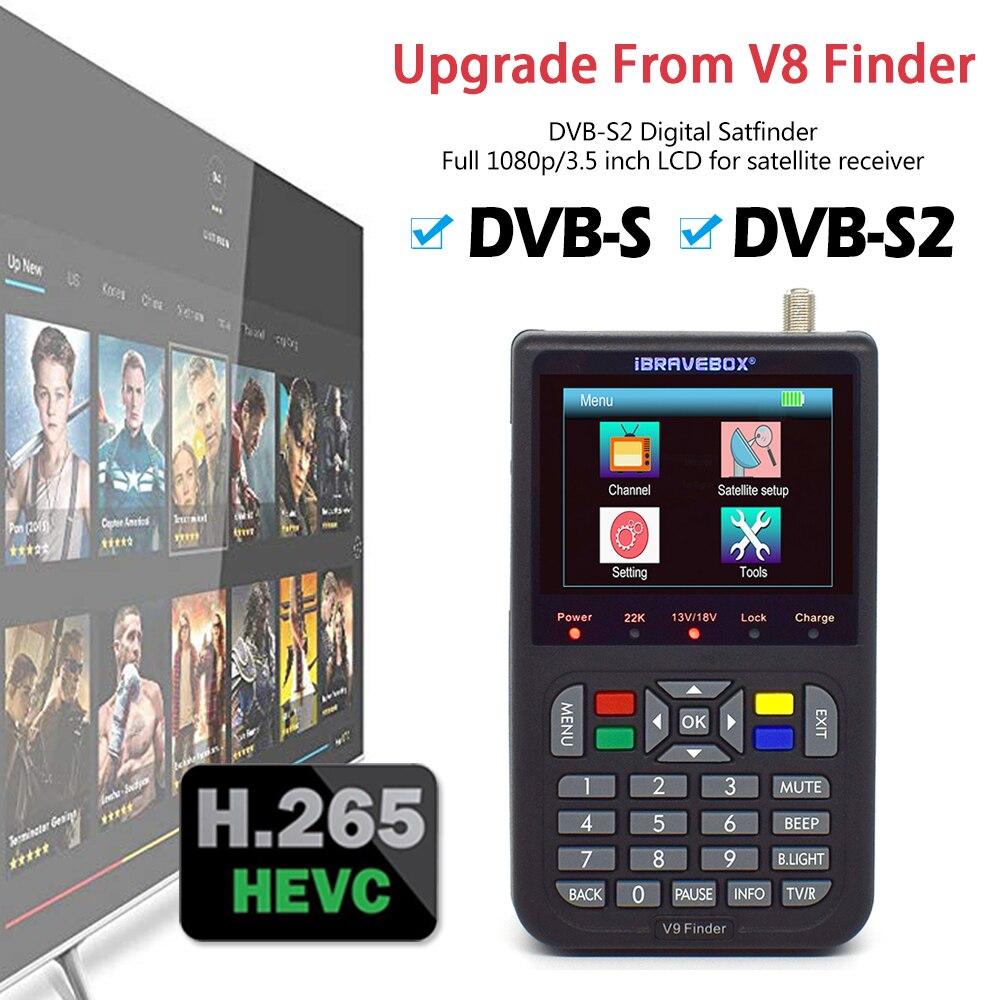 Actualización de Receptor satélite V8 Finder DVB S2, localizador satélite DVB-S2, H.265, Full 1080P