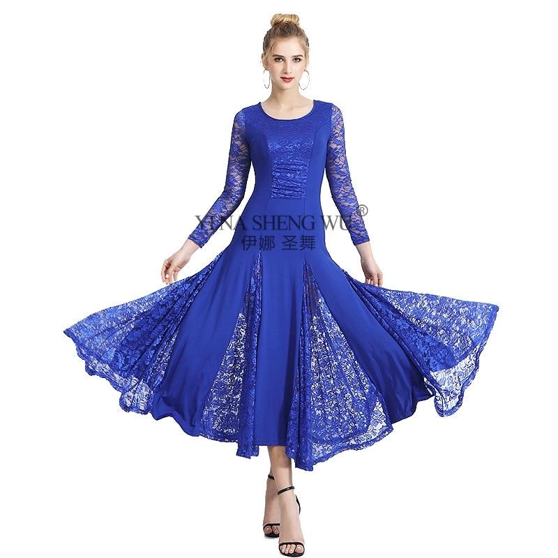 فستان رقص الفالس القياسي الوطني للنساء ، زي مسابقة الرقص ، 5 ألوان