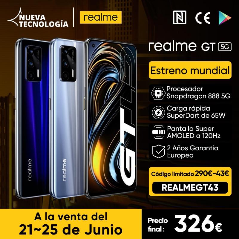 Realme GT 5G 8GB+128GB descuento en AliExpress