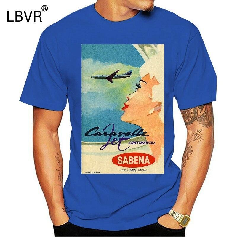 Sabena Airlines 1961 ca Int Airlines футболки с плакатами S to 5XL