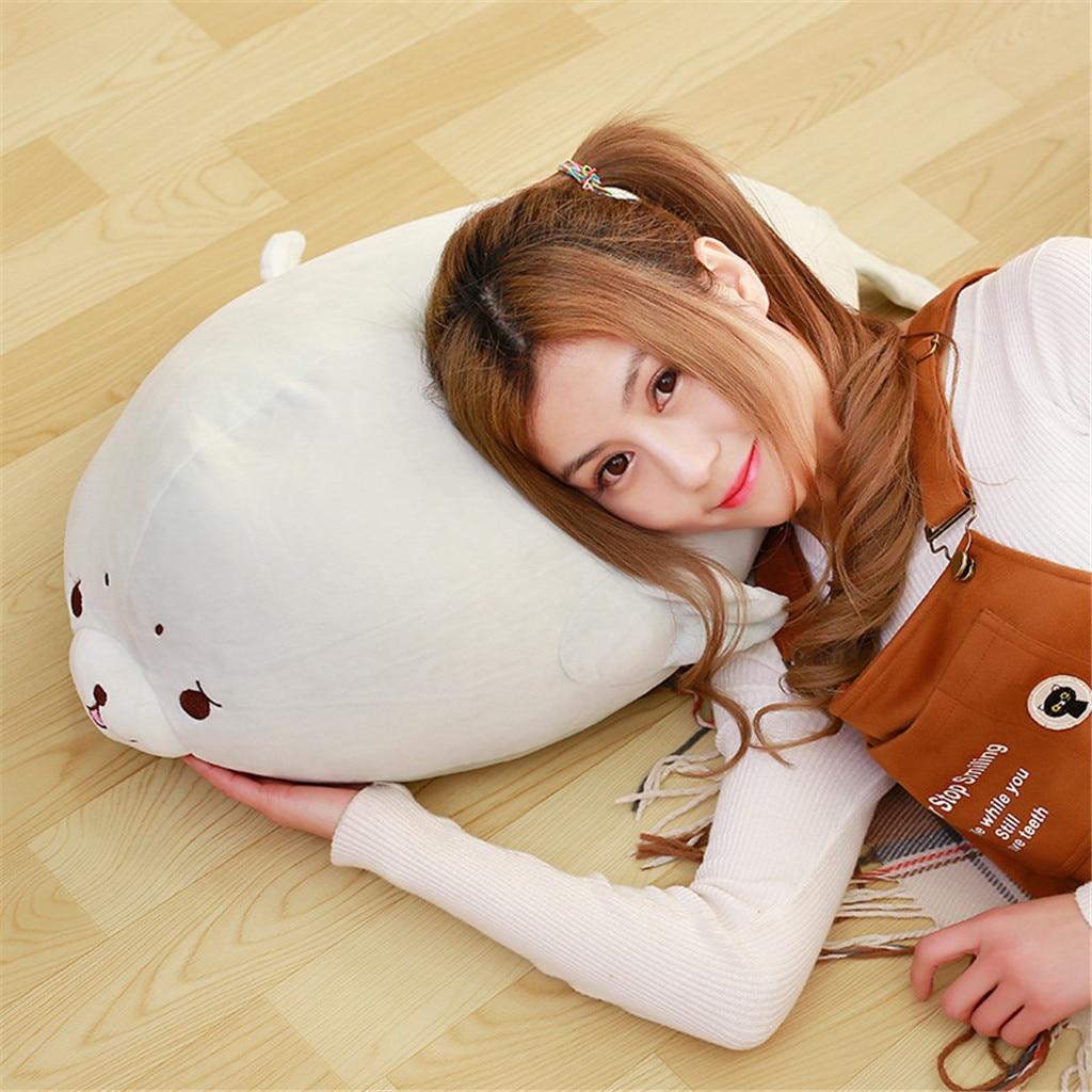 Cute Pillow Cotton Seal Plush Toy Stuffed Soft Kawaii Animal Cartoon Pillow Lovely Gift for Kids Baby Children Good Quality12.26