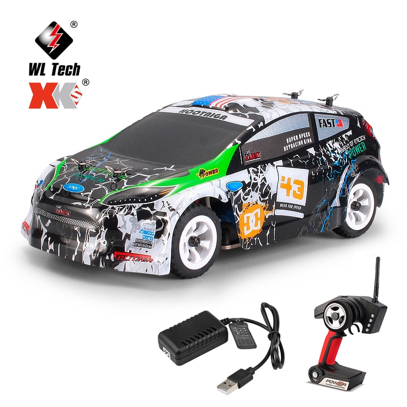 WLtoys K989 Remote Control Four-Wheel Drive Car Charger Electric Toys Mini Race Car 1:28-Ratio High-